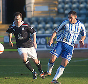 Kilmarnock's Danny Racchi and Dundee's Ross Chisholm - Dundee v Kilmarnock, William Hill Scottish FA Cup 4th Round,..- © David Young - .5 Foundry Place - .Monifieth - .DD5 4BB - .Telephone 07765 252616 - .email; davidyoungphoto@gmail.com - .web; www.davidyoungphoto.co.uk.