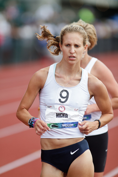 Olympic Trials Eugene 2012: women's 20,000 meter race walk, Maria Michta, winner, Olympian