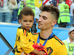 July 14, 2018 - St. Petersburg, Russia - July 14, 2018, St. Petersburg, FIFA World Cup 2018, Football match for the third place in the World Cup. Football match of Belgium - England at the stadium of St. Petersburg. Player of the national team Toma Meunier  (Credit Image: © Russian Look via ZUMA Wire)