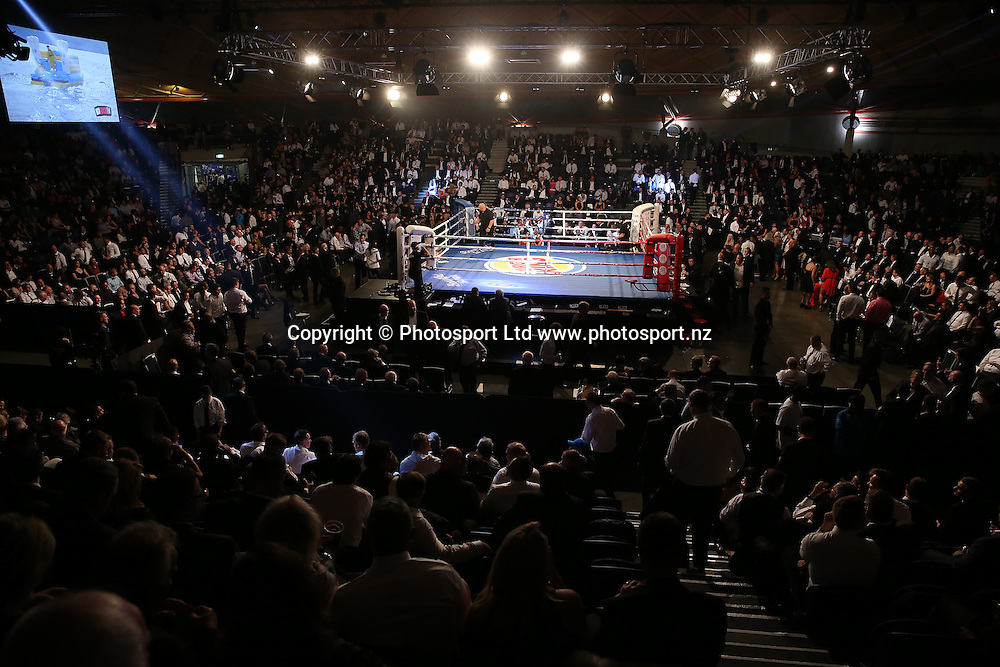 Undercard fight bout four Brown Butterbean v Conrad Lam at the Burger King Road to the Title by Duco Boxing. Saturday 21 May 2016. Auckland, New Zealand. © Copyright Photo: Fiona Goodall / www.photosport.nz
