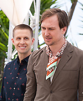Actors Anders Danielsen Lie, Lars Eidinger, at the Personal Shopper film photo call at the 69th Cannes Film Festival Tuesday 17th May 2016, Cannes, France. Photography: Doreen Kennedy