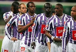 Toulouse line up before the 1/4 Final of la Coupe de France, Stade Municipal, Toulouse, France, 18th March 2009.