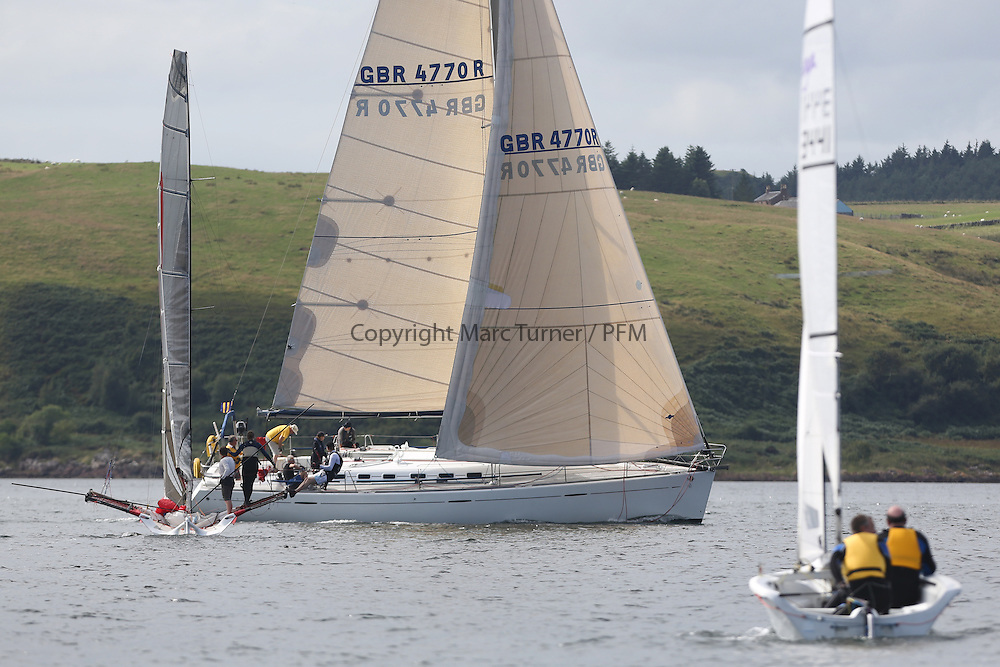 Peelport Clydeport Largs Regatta Week 2013 <br /> <br /> GBR4770R, Lady Rhona, Benteau 47.7, Iain Cameron, FYC<br /> <br /> Largs Sailing Club, Largs Yacht Haven, Scottish Sailing Institute