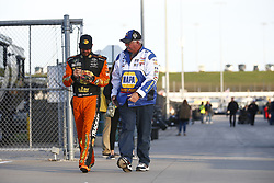 October 19, 2018 - Kansas City, Kansas, United States of America - Martin Truex, Jr (78) hangs out on pit road prior to qualifying for the Hollywood Casino 400 at Kansas Speedway in Kansas City, Kansas. (Credit Image: © Justin R. Noe Asp Inc/ASP via ZUMA Wire)