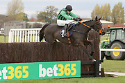 NIGHTFLY ridden by Jonathan Burke and trained by Charlie Longsdon winning The Danny Megson 40th Birthday Celebration Handicap Steeple Chase over 2m 3f (£15,000)   during the Bet365 Meeting at Wetherby Racecourse, Wetherby, United Kingdom on 3 November 2018. Picture by Mick Atkins.