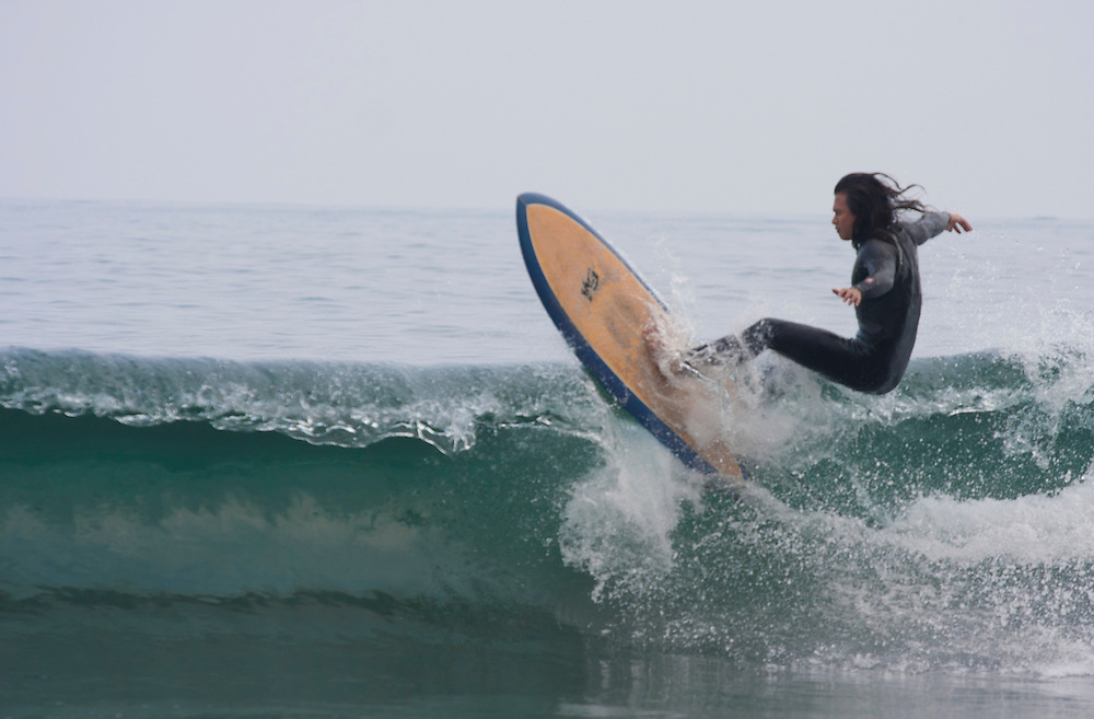 Surfers at Honeymoon Bay, Daxi, Yilan