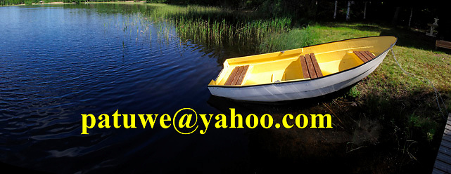 Scandinavia Finland finnish yellow boat idyllic on shore