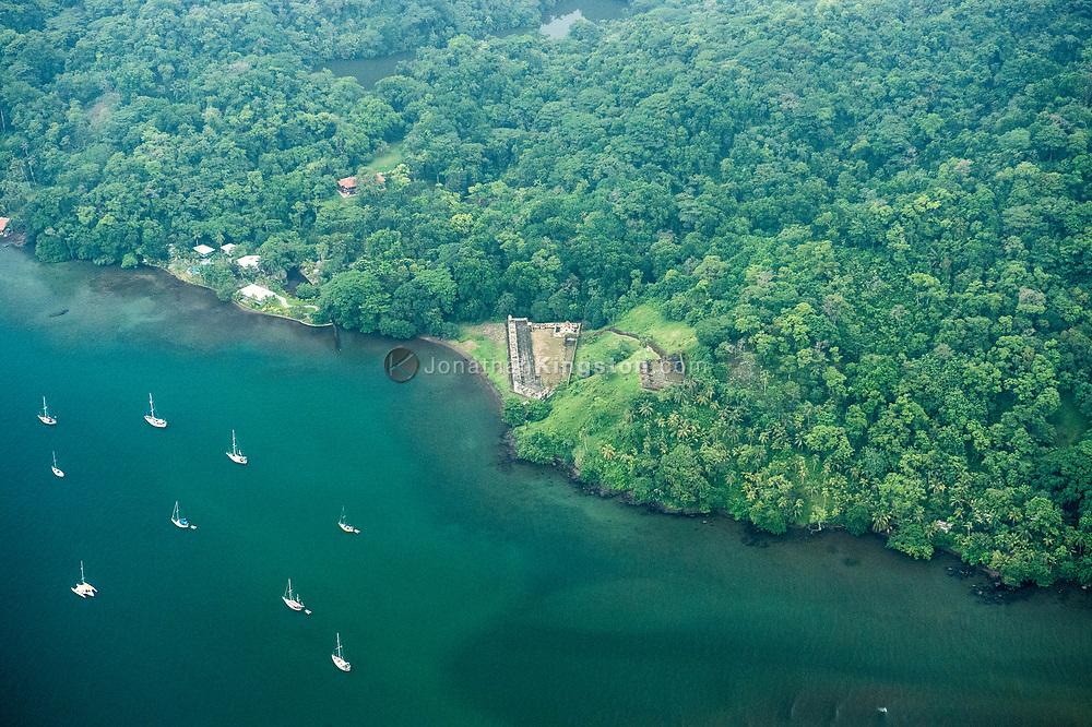 Aerial view of Fort San Fernando, Portobelo, Panama.
