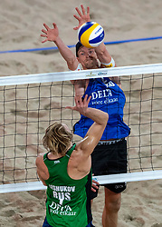 06-01-2019 NED: Dela Beach Open, Den Haag<br /> Netherlands lost the bronze medal from Russia 1-2 / Ilya Leshukov #1 RUS, Robert Meeuwsen #2