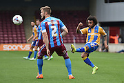 Junior Brown of Shrewsbury Town during the Sky Bet League 1 match between Scunthorpe United and Shrewsbury Town at Glanford Park, Scunthorpe, England on 17 October 2015. Photo by Ian Lyall.