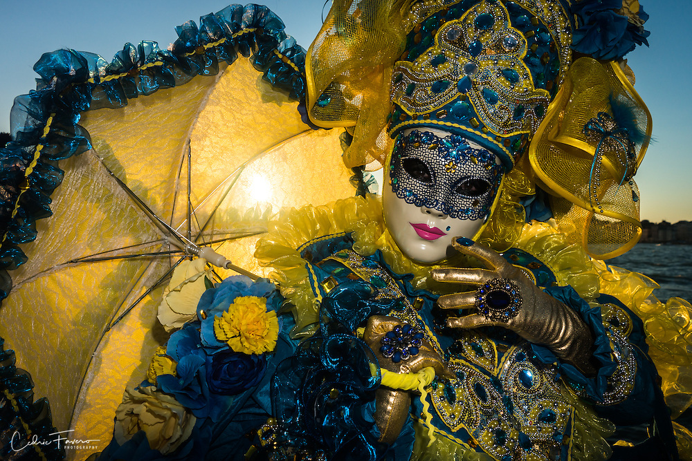 Masked person during the Carnival of Venice (Venezia)