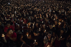 May 10, 2017 - Central Jakarta, Jakarta, Indonesia - Jakarta, Indonesia, 10 May 2017 : Hundreds of Basuki Tjahaja Purnama supporters or known as ahok gathered at Indonesia Proclamation monument in central jakarta. They light candles to give support for Ahok freedom from the accused of blasphemy. (Credit Image: © Donal Husni via ZUMA Wire)