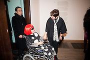 YAHOI KUSAMA; FRANCES MORRIS, Yayoi Kusama opening. Tate Modern. London. 7 February 2012