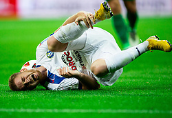 Rudi Požeg Vancaš of Celje injured during football match between NK Olimpija Ljubljana and NK Celje in 3rd Round of Prva liga Telekom Slovenije 2018/19, on Avgust 05, 2018 in SRC Stozice, Ljubljana, Slovenia. Photo by Vid Ponikvar / Sportida