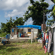 AUGUST 27, 2018--PATILLAS---PUERTO RICO--<br /> Reinaldo Rivera Rivera's  roofless house he shares with his three young sons in Patillas. Rivera says a church group will help re build his house in October.<br /> (Photo by Angel Valentin/Freelance)