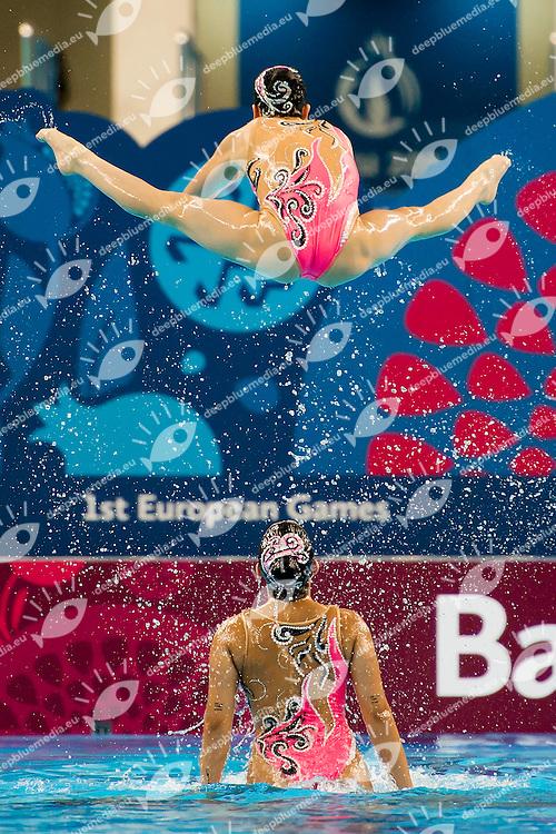 Team Turkey TUR<br /> Free Combination Final<br /> 1st European Olympic Games <br /> Baku Azerbaijan 12-28/08/2015<br /> Photo Andrea Masini/Deepbluemedia/Insidefoto