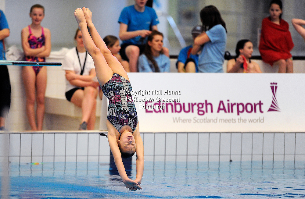 Scottish National Diving Championships & Thistle Trophy 2015<br /> Royal Commonwealth Pool, Edinburgh<br /> <br /> 1m Claire Rintoul of Edinburgh Diving Club<br /> <br />  Neil Hanna Photography<br /> www.neilhannaphotography.co.uk<br /> 07702 246823