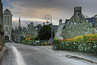 The road to the church, ol village of Locronan, Finistere, Bretagne, Brittany, France