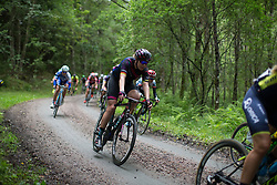 Mieke Kröger (GER) of CANYON//SRAM Racing descends on the final gravel section of the Crescent Vargarda - a 152 km road race, starting and finishing in Vargarda on August 13, 2017, in Vastra Gotaland, Sweden. (Photo by Balint Hamvas/Velofocus.com)