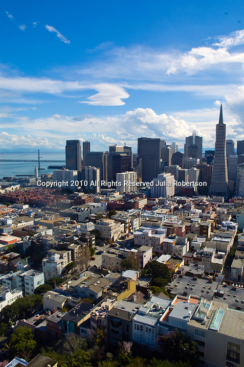 aerial view of Downtown San Francisco, California