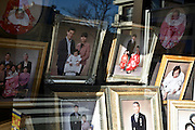 portrait in window display of photography portrait studio and store Tokyo Japan