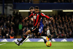 Joshua King of Bournemouth is tracked by Gary Cahill of Chelsea - Mandatory byline: Robbie Stephenson/JMP - 05/12/2015 - Football - Stamford Bridge - London, England - Chelsea v AFC Bournemouth - Barclays Premier League