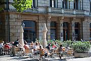 Schwarzmarkt Cafe, Hauptstraße, Neustadt, Dresden, Sachsen, Deutschland | Schwarzmarkt Cafe, main street, Neustadt, Dresden, Saxony, Germany,