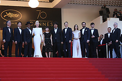 May 20, 2017 - Cannes, France - BYUNG HEEBONG, STEVEN YEUN, GUEST, TILDA SWINTON, AHN SEO-HYUN, DIRECTOR BONG JOON-HO, PAUL DANO, LILY COLLINS, JAKE GYLLENHAAL AND DEVON BOSTICK - RED CARPET OF THE FILM 'OKJA' AT THE 70TH FESTIVAL OF CANNES 2017 (Credit Image: © Visual via ZUMA Press)