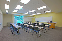 Interior design and exterior architectural photography of the Kent Humanities building at Chesapeake College