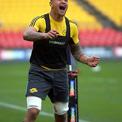 Vaea Fifita. Hurricanes Super Rugby final captain's run at Westpac Stadium, Wellington, New Zealand on Friday, 5 August 2016. Photo: Dave Lintott / lintottphoto.co.nz