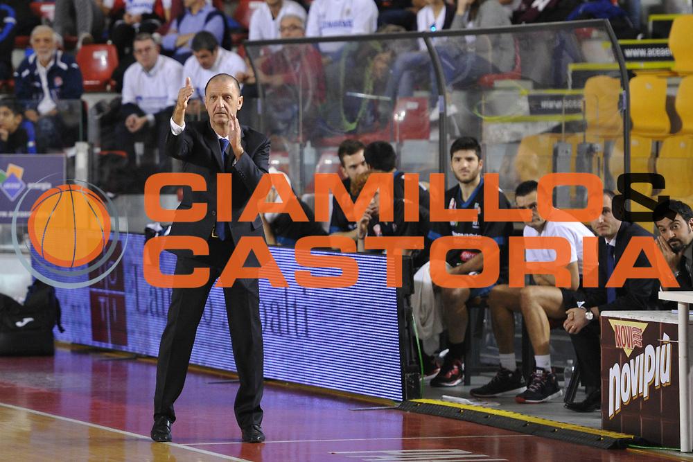 DESCRIZIONE : Roma LNP A2 2015-16 Acea Virtus Roma Benacquista Assicurazioni Latina<br /> GIOCATORE : Franco Grementi<br /> CATEGORIA : allenatore coach<br /> SQUADRA : Benacquista Assicurazioni Latina<br /> EVENTO : Campionato LNP A2 2015-2016<br /> GARA : Acea Virtus Roma Benacquista Assicurazioni Latina<br /> DATA : 20/12/2015<br /> SPORT : Pallacanestro <br /> AUTORE : Agenzia Ciamillo-Castoria/G.Masi<br /> Galleria : LNP A2 2015-2016<br /> Fotonotizia : Roma LNP A2 2015-16 Acea Virtus Roma Benacquista Assicurazioni Latina