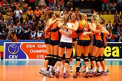20140425 NED: Jong Oranje Vrouwen - Montenegro, Arnhem <br /> Jong Oranje Vrouwen wint de eerste wedstrijd met 3-0 van Montenegro<br /> ©2014-FotoHoogendoorn.nl / Pim Waslander
