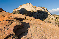 Slickrock mesas of Zion National Park Utah USA beautiful