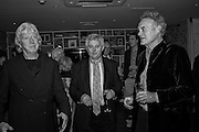 JAMES HUGHES-ONSLOW; RICHARD COMPTON MILLER;  Richard Compton Miller birthday, The Apartment @ The Hoxton, Great Eastern Street,  London. 21 March 2015.