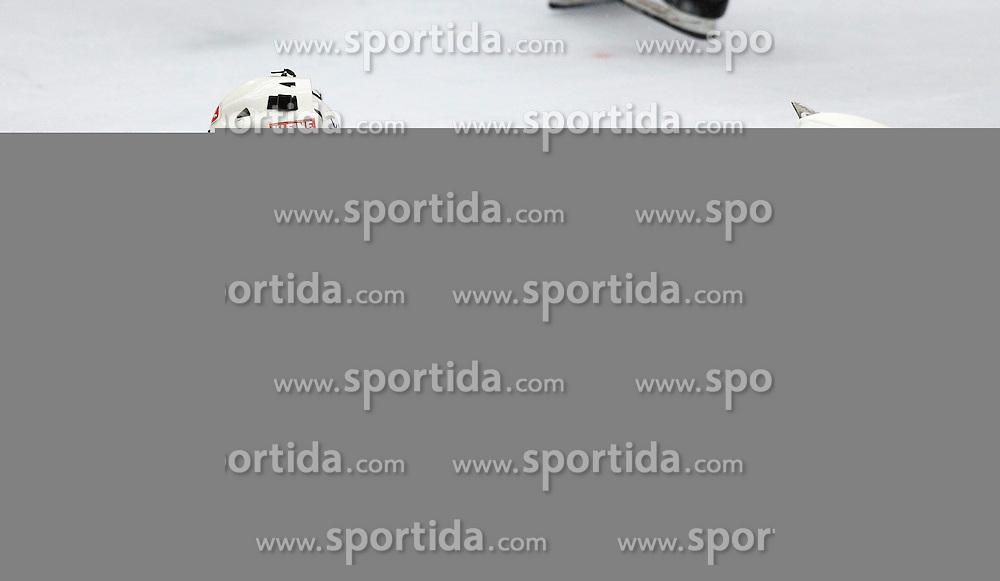26.02. 2014, Stadthalle, Villach, AUT, EBEL, EC VSV vs HC Orli Znojmo, 8. Plazierungsrunde, im Bild Jean Philippe Lamoureux (VSV,#1) // during the Erste Bank Icehockey League 8. Placing round between EC VSV vs HC Orli Znojmo at the City Hall, Villach, Austria, 2014/02/26, EXPA Pictures © 2014, PhotoCredit: EXPA/ Oskar Hoeher