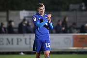 AFC Wimbledon attacker Marcus Forss (15) clapping during the EFL Sky Bet League 1 match between AFC Wimbledon and Southend United at the Cherry Red Records Stadium, Kingston, England on 1 January 2020.