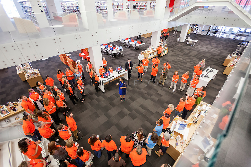 10/1/16 9:19:33 AM -- Tulsa City-County Library opens the new Central Library in downtown Tulsa, Okla. <br /> <br /> Photo by Shane Bevel