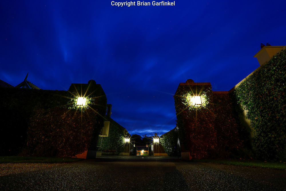 The road leading to the stables is seen at dusk during the Mulryan/Caulfield family reunion at Ardenode Stud, County Kildare, Ireland on Sunday, June 23rd 2013. (Photo by Brian Garfinkel)