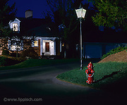 The fire hydrant was placed in this location, and lighting was added, just for this photo.
