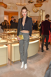 Frankie Herbert at the reopening of the Cartier Boutique, New Bond Street, London, England. 31 January 2019. <br /> <br /> ***For fees please contact us prior to publication***