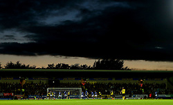 A dramatic sky over the match action as Burton Albion take on Birmingham City at The Pirelli Stadium - Mandatory by-line: Robbie Stephenson/JMP - 18/08/2017 - FOOTBALL - Pirelli Stadium - Burton upon Trent, England - Burton Albion v Birmingham City - Sky Bet Championship