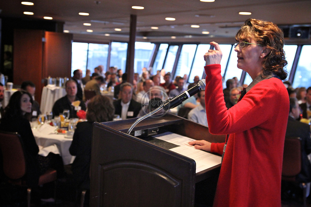 """Seattle Children's Museum Corporate Breakfast 2012. """"The Power of One. The Power of Many.""""  Donna Marie Bertrand, Executive Director."""
