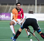 AMSTELVEEN - Rizwan Muhammad (Oranje-Rood)    tijdens   de hoofdklasse hockeywedstrijd AMSTERDAM-ORANJE ROOD (4-5). COPYRIGHT KOEN SUYK