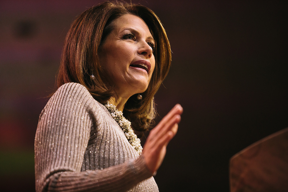 Rep. Michele Bachmann speaks during the final day of the Conservative Political Action Conference (CPAC) at the Gaylord National Resort & Convention Center in National Harbor, Md.