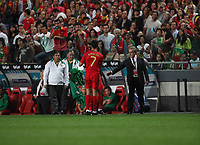 20091010: LISBON, PORTUGAL - Portugal vs Hungary: World Cup 2010 Qualifying Match. In picture: Cristiano ronaldo leaving the field of play injured. PHOTO: Carlos Rodrigues/CITYFILES