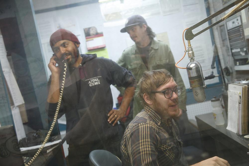 Hebowski radio program at KCSB 91.9 FM in Santa Barbara, Calif.