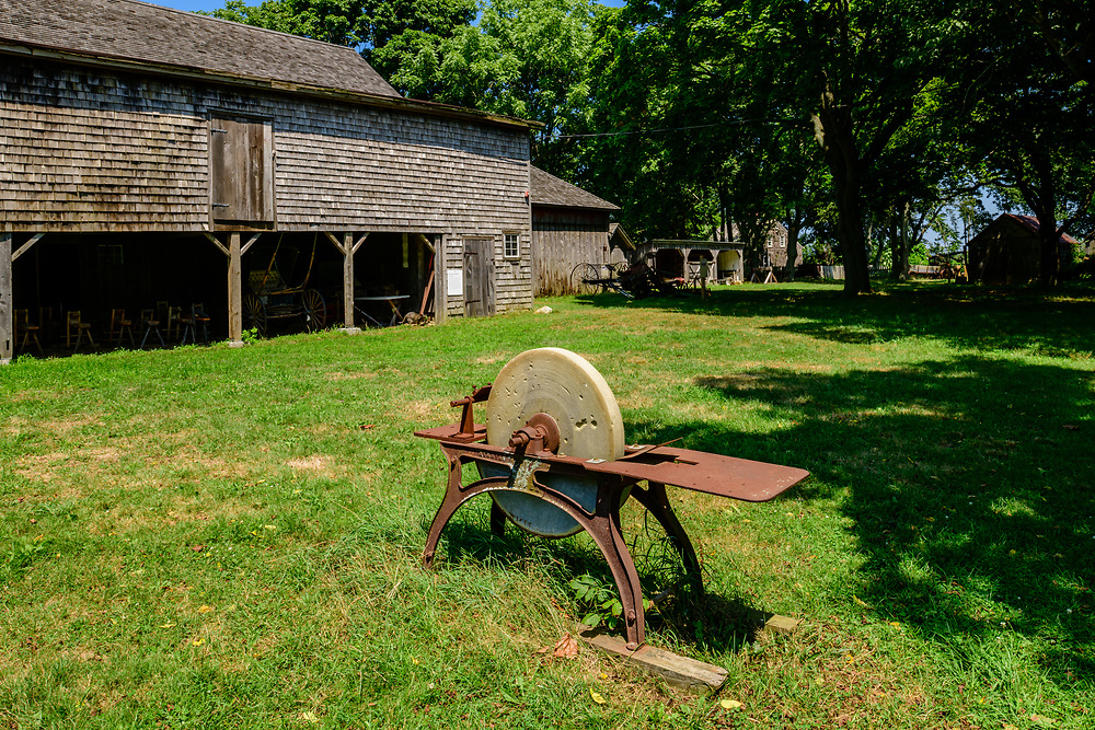 "Barn, Hallockville Museum Farm. Riverhead, NY, ""Find out what life was like on a typical farm on the North Fork of Long Island from 1880 to 1920 by visiting the wonderfully preserved original buildings and observing the artifacts displayed throughout this history museum."""