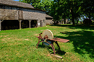 """Barn, Hallockville Museum Farm. Riverhead, NY, """"Find out what life was like on a typical farm on the North Fork of Long Island from 1880 to 1920 by visiting the wonderfully preserved original buildings and observing the artifacts displayed throughout this history museum."""""""