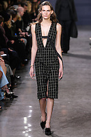 Lena Hardt walks the runway wearing Jason Wu Fall 2016, Hair by Paul Hanlon for Morocconoil, Makeup by Yadim for Maybelline, shot by Thomas Concordia during New York Fashion Week on February 12, 2016