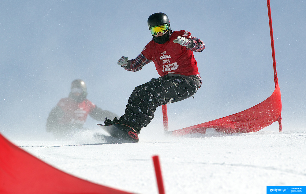 Johannes McAlpin, Australia, in action during the Duel Giant Slalom event at the Snow Sports NZ Junior Freeski and Snowboard Nationals at Cardrona Alpine Resort, Wanaka,  New Zealand, 27th September 2011. Photo Tim Clayton...